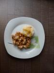 ljetna tava, riža s mesom, meso u umaku od povrća, jednostavan ručak, brzi ručak