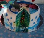 rainbow cake, šarena torta, frozen torta, rođendanska torta