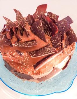 Mozart kugle, Mozart torta, krema od pistacije, krema od čokolade, biskvit od badema