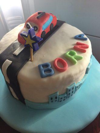 rođendanska torta, torta sa fondantom