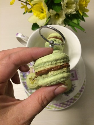 macarons badem, čokolada