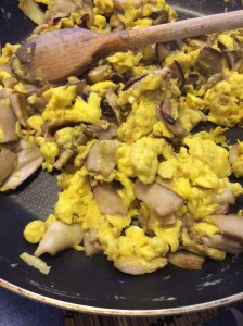 vrganji s jajima, jaja, doručak, vganji