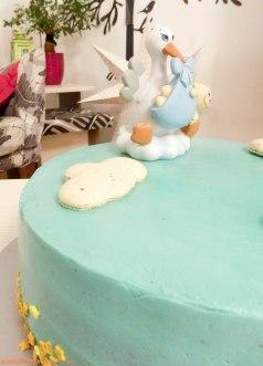 Torta s temom za rođenje dečkića